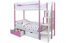 Двухъярусная кровать Бельмарко Лаванда-Белый