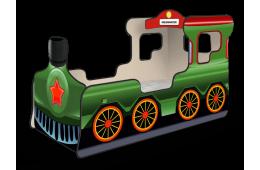 Кровать-паровозик «Звезда» зелёный