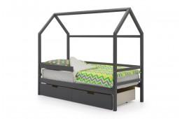 Детская кровать-домик Бельмарко Графит