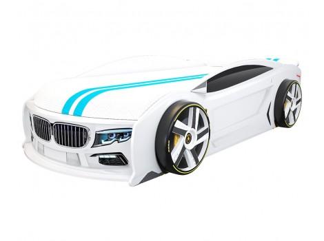 Кровать машина БМВ Манго Белая