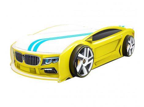 Кровать машина БМВ Манго Желтая