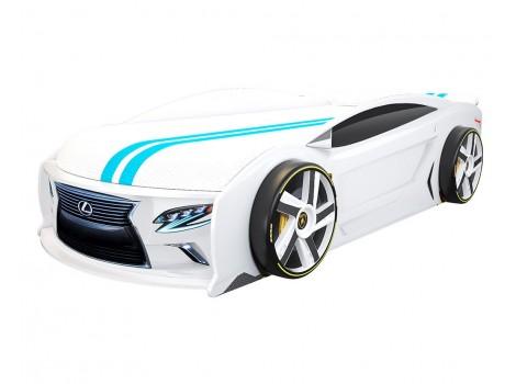 Кровать машина Лексус Манго Белый для подростков