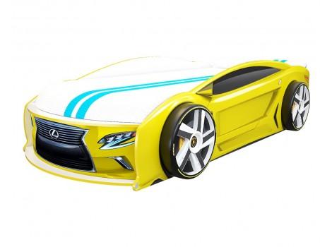 Кровать машина Лексус Манго Желтый
