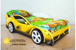 Детская кровать -  машина FERRARI (ФЕРРАРИ)
