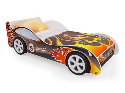 Детская кровать - машина Пламя2 с ящиками