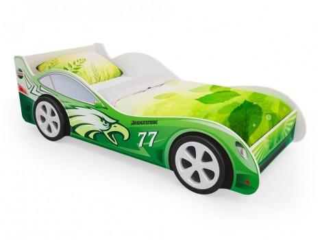 Детская кровать - машина Зеленая