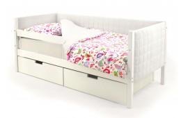 Детская кровать-тахта мягкая Бельмарко «Skogen белый»