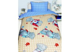 Детское постельное белье  MTY Ded на бежевом (бязь, 100% хлопок)
