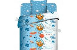 Детское постельное белье Три кота (бязь, 100% хлопок)