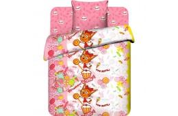 Детское постельное белье Три кота. Карамелька на розовом (бязь, 100% хлопок)