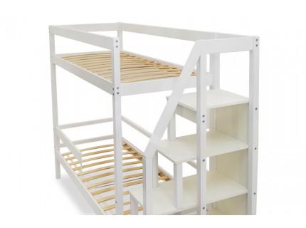 Двухъярусная кровать Бельмарко Белая