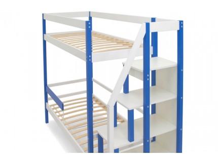 Двухъярусная кровать Бельмарко Сине-Белый
