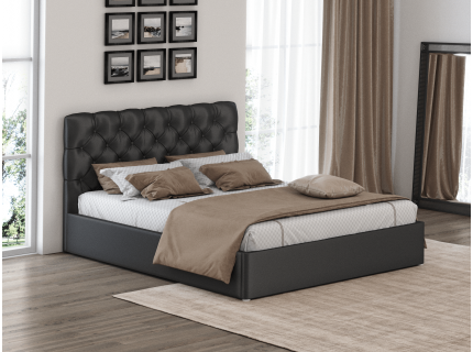 Кровать с мягким изголовьем Грация 3