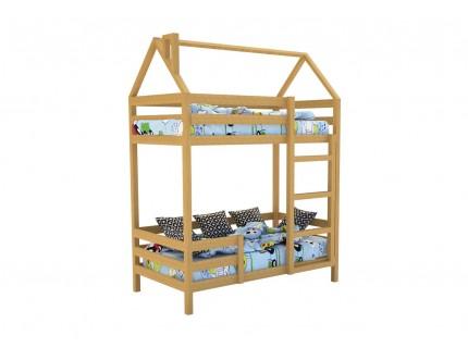Кровать-домик «SCANDI» Двухъярусная Дерево