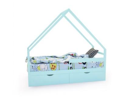 Кровать-домик «SCANDI» бирюзовый