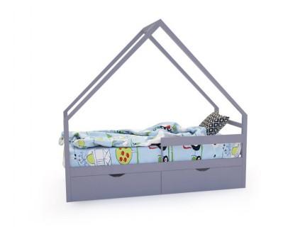Кровать-домик «SCANDI» серый