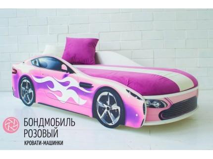Детская кровать - машина БОНДМОБИЛЬ РОЗОВЫЙ
