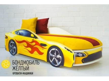 Детская кровать - машина БОНДМОБИЛЬ ЖЕЛТЫЙ